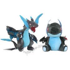 2pcs Pokemon Center Mega Charizard  X Plush Doll Figure Stuffed Animal Toy Gift