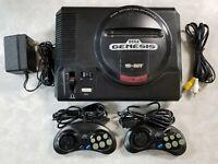 2 - 6 button Controller - Original SEGA GENESIS Console MK-1601 or 1st Gen