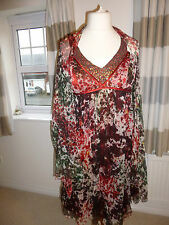 Designer sequin silk dress with wrap size 10 bnwt wedding/cruise