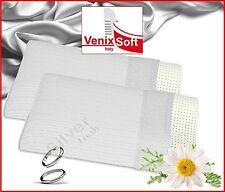 2 Oreillers VENIXSOFT à mémoire de forme orthopédique cervical Silver Fresh