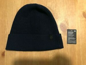 NWT Lululemon Cold Pursuit Beanie Hat Knit Navy Blue One Size