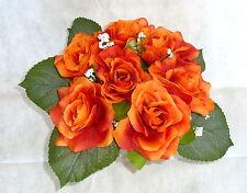 Rosenstrauß /  Seidenblumen - Blumenstrauß orange