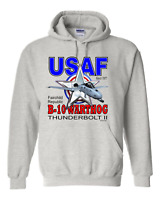 Pullover Hooded sweatshirt United States Air Force  USAF Warthog Thunderbolt