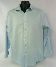 Calvin Klein Mens' Large Regular Fit Performance Button Front Shirt Micro Dots