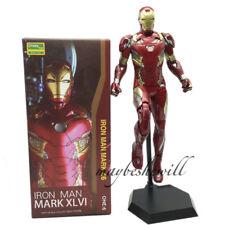 "Crazy Toys Iron Man Mark XLVI Avengers 12"" Collectible Figure Tony Stark Statue"