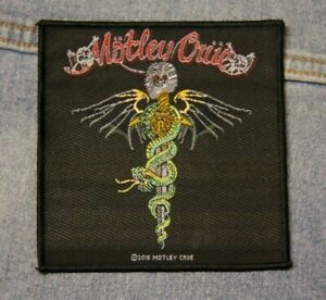 Motley Crue Dr Feelgood sew on patch retro Official merchandise rock