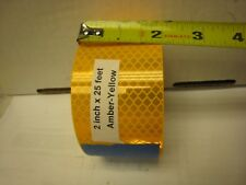 """AMBER SUNFLOWER YELLOW GOLD Reflective   Conspicuity Tape 2"""" x 25 ft"""