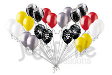 24 pc Pirate Inspired Latex Balloons Party Decoration Skull Treasure Birthday