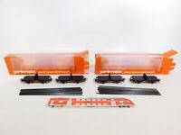 CI993-1# 2x Primex/Märklin H0/AC 4598 Drehschemelwagen mit Schienen, s.g.+OVP