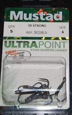 Mustad 36329BLN-04 Size 4 Elite Treble Hooks 3X Strong Premium 5 Pack Musky