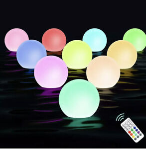 Chakev Floating Pool Light Balls with Remote, 3-inch RGB Color Changing Ball for