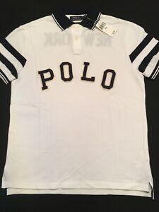Polo Ralph Lauren Bulldog New York Custom Slim Fit Mesh Polo Sz. Large