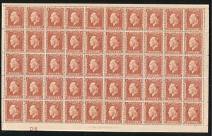 "1937 Greece ""King George II"" 3 ₯ - Greek drachma Full Sheet 50 Stamps"