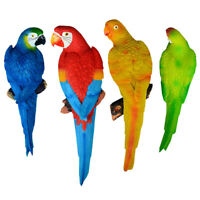 Resin Parrot Birds Ornament Outdoor Garden Tree Statue Lawn Sculpture Decor 1pc