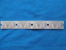 Vintage 90 Cent Arcade Theatre Tickets (Strip of 4) Drive-In Movie/Cinema - LA