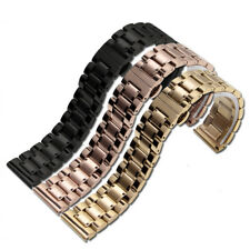 Hot Stainless Steel Watch Band 18/20/22mm Wristband Bracelet Strap Clasp Silver