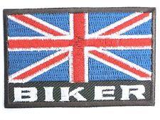 GB UK Biker Union Jack Flag Embroidered Iron Sew On Shirt Bag Jacket Patch