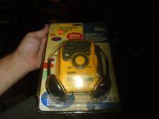 Coby CX-55 Yellow Sport AM/FM Cassette Player Brand new RARE!!