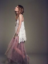 Free People Intimately Pink Maxi Tulle Slip Dress S NWT Rare HTF