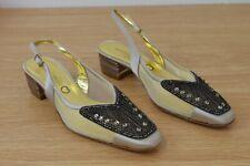 Ladies Martini Osvaldo Mesh Beaded Slingback shoes size 35 UK 2