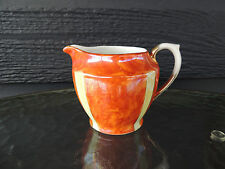 1909-1918 Schaller Bavaria Orange and Yellow Gold Trim  Porcelein Cream Pitcher