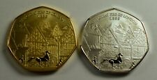 Pair of THE GREAT FIRE OF LONDON 1666 Commemorative Coin Albums/50p Collectors