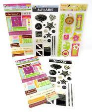 Bulk Lot #60 5 packs DCWV Glitter Epoxy Pop-Up Stickers Circus Alpha + 95 pcs
