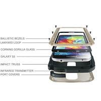 Original LOVE MEI Samsung Galaxy S5 Metallgehäuse Alu Bumper Schutz Outdoor Case