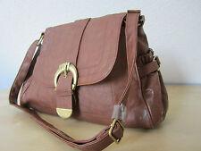 Shopper Abendtasche Handtasche Satchel Primark Kunst-Leder NEU braun cross-over