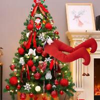 Santa Kicking Legs Ornaments - Weihnachten Elf Gefüllte Beine Stuck Tree Topper