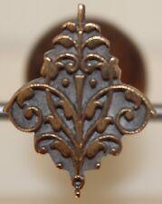 Fer à Dorer Fleuron Alde modèle XVIe Bronze Reliure Doreur signé Bearel #29