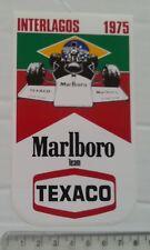 1975 MARLBORO TEXACO INTERLAGOS / GRAND PRIX STICKER FORMULA 1 (F1)