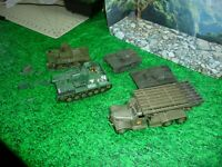 AIRFIX/ESCI,( NON 1/35) SCALE SOVIET/RUSSIAN ARMOR/ LOT DEAL BUILT LOOK@