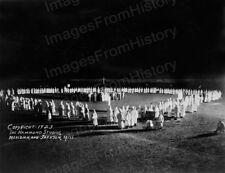 8x10 Print KKK Ku Klux Klan Initiation Jackson Mississippi 1923 #KK95