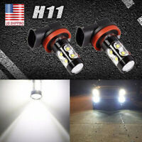 2x H11 50W COB LED Fog Light Bulb For Nissan 2008-2014 Maxima Altima 6000k White