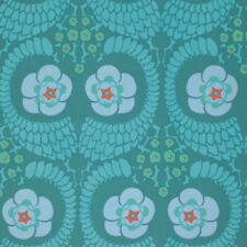 Amy Butler Violette French Twist Home Decorator Sateen Fabric in Ocean SAAB015