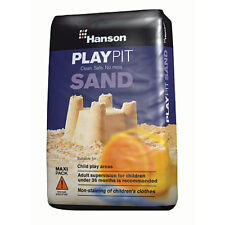 HANSON CHILDREN TOY PLAY PIT SAND SILICA NON CLOTHES STAINING 25KG CLEAN SAFE
