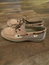 Shoes Sperry Top Sider Lanyard Boys Beige Suede Leather Size 6