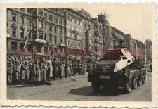 R207 Foto WH Panzer Spähwagen Sudetenland Prag Tschechien Parade !