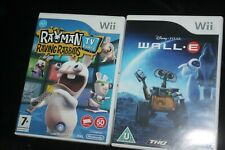 WALL.E and RAYMAN RAVING RABBIDS TV PARTY Nintendo Wii Games (PAL UK) Complete!