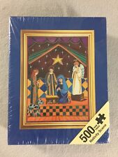 "Nativity Scene Jigsaw Puzzle 500 Piece Andrews and Blaine 14"" x 19"" New Sealed"