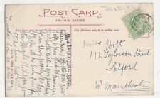 Little Eaton 1907 Single Ring Postmark on Postcard #3, B134