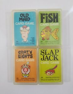 VTG 70s Whitman Card Games - Fish - Old Maid - Slap Jack - Crazy Eights SEALED