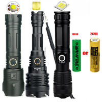 Most Powerful XHP100 XHP160 LED Flashlight USB Rechargeable Zoom Torch Lantern