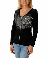 Ladies Liberty Wear RIDE ON Motorcycle Hoodie, Lightweight Soft 100% Cotton USA