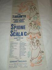 """TEATRO-NINO TARANTO""""LO SPIONE DELLA SCALA C""""COMPAGNIA COMICA -LOCANDINA '70"""