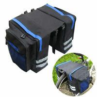 MTB Bike Bicycle Rear Rack Pannier Bags Waterproof Seat Box Saddle Carry Bag