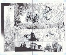 Extraordinary X-Men #12 pgs. 2 & 3 - Magik Action v Demons art by Humberto Ramos