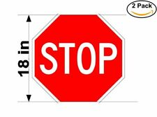 Sign Stop 2 Stickers 18 Inches Sticker Decal 6