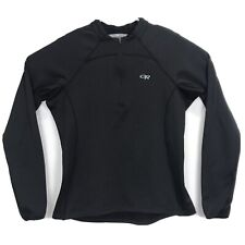 Women's Outdoor Research Black Long Sleeve 1/4 zip Radiant top Size Large